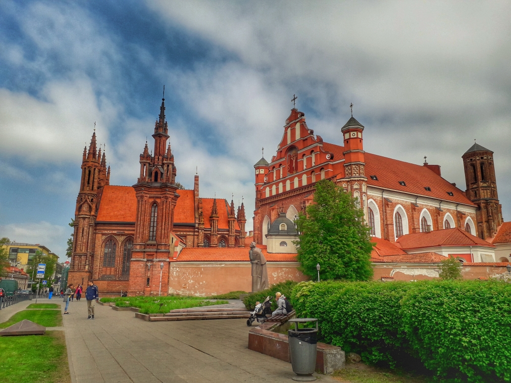 Saint Anne's Church - Old Town, Vilnius, Lithuania. Discover the best UNESCO World Heritage Sites in Europe recommended by travelers - 95 must-see UNESCO sites in Europe. #unesco #unescoeurope #unescolithuania #vilnius #vilniusunesco
