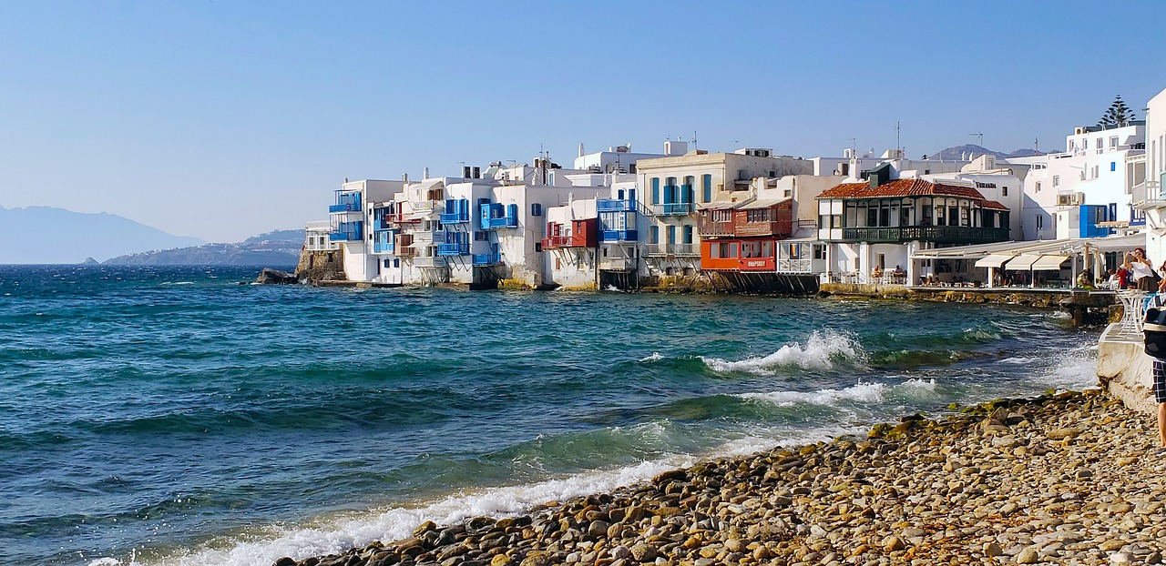 Little Venice. A postcard-like neighborhood on Chora's seaside, Mykonos. Discover why you should visit Mykonos #mykonos #greece