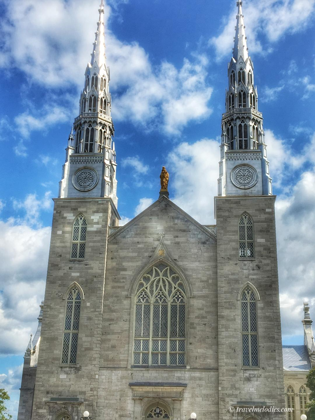 Notre Dame Cathedral in Ottawa, Canada is one of the famous Ottawa points of interest. Here's your Ottawa travel itinerary for 2 days with all you need to know, see, and do. #ottawa #ottawaitinerary #ottawacanada #ottawaattractions #ottawathingstodo