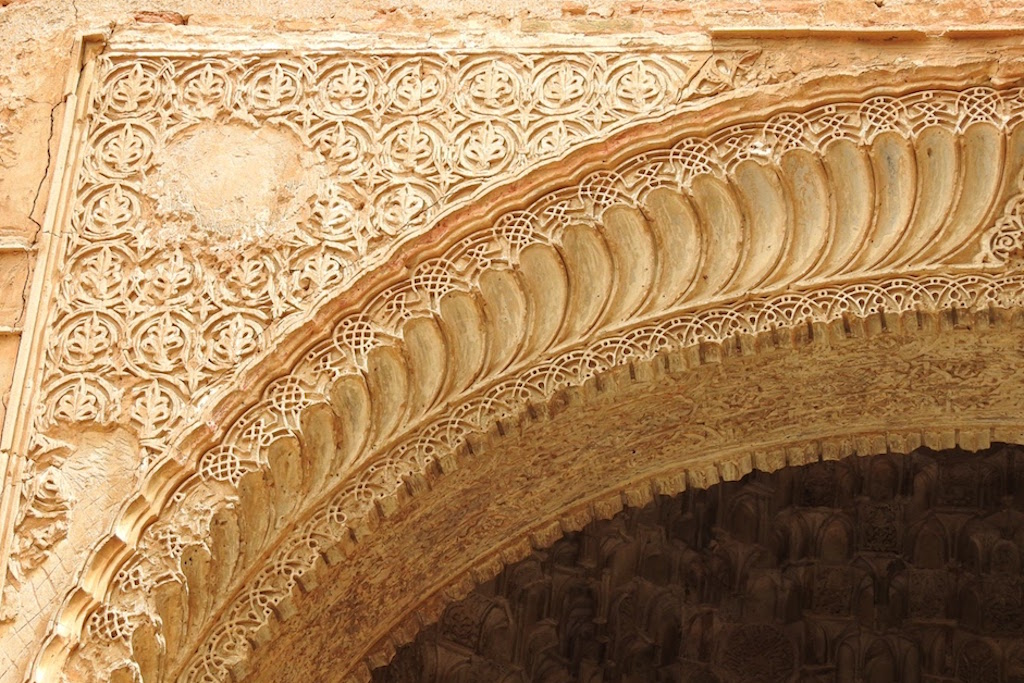 Art detail - Alhambra, Granada, Spain. Use this Granada guide for first-time visitors and see what to do in 3 days in Granada. #granada #granadaitinerary #granadatravel #granadaspain #granadaguide #spaintravel