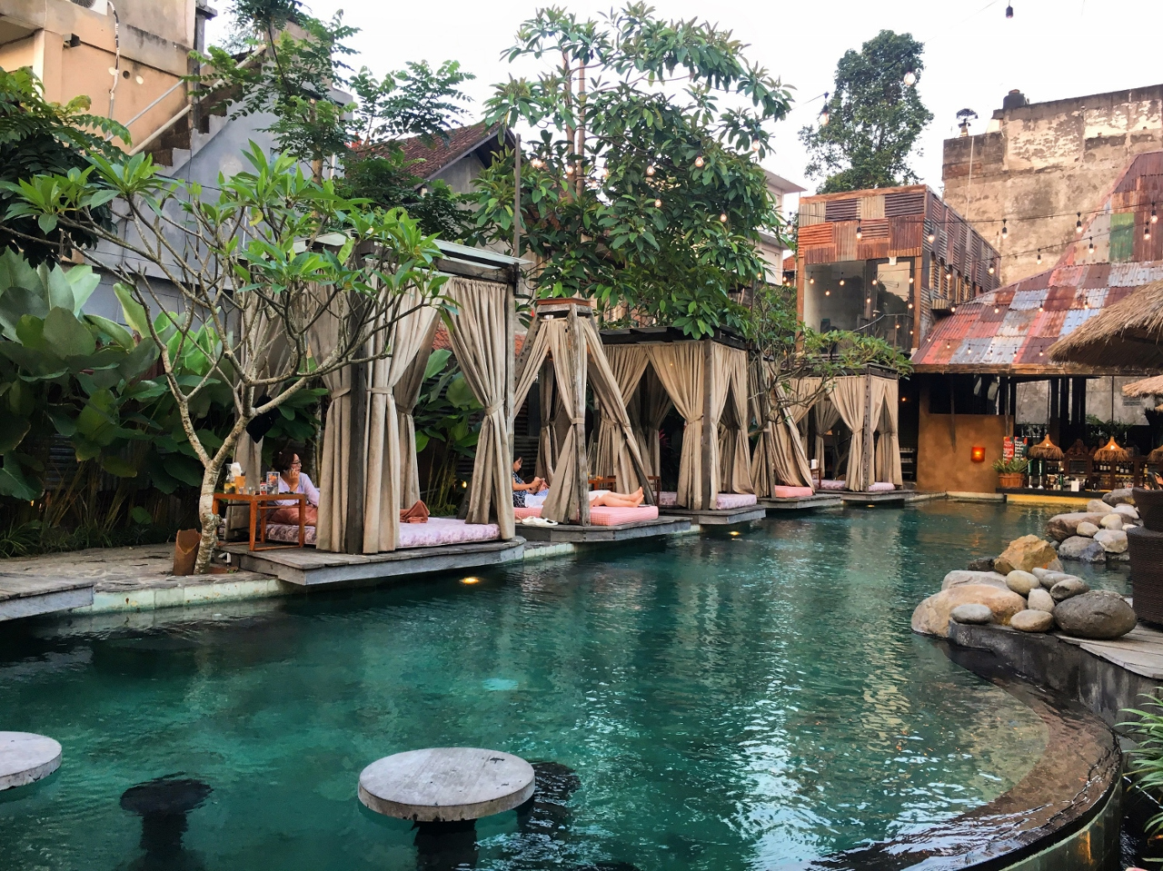 Folk Pool & Gardens, Ubud, Bali. Read this Ubud itinerary and see what to do on a short trip to Ubud. #ubuditinerary #ubudguide #baliindonesia #balitravel #bali #baliholiday #balinese #ubud