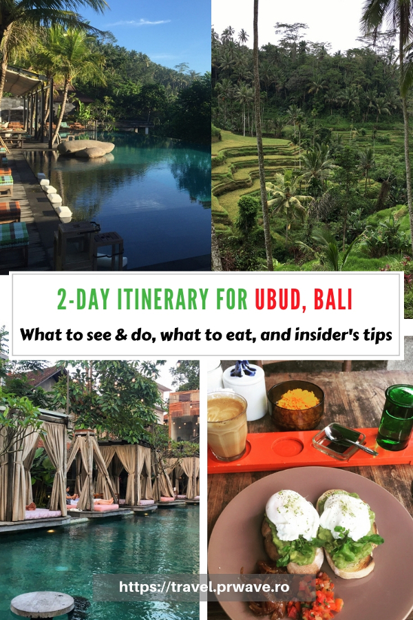 Planning to visit Ubud, Bali? Use this Ubud travel itinerary and see what you can do if you have two days in ubud. The itinerary includes the best places to visit in Ubud for first timers. Save this pin to your boards #ubuditinerary #ubudguide #baliindonesia #balitravel #bali #baliholiday #balinese #ubud