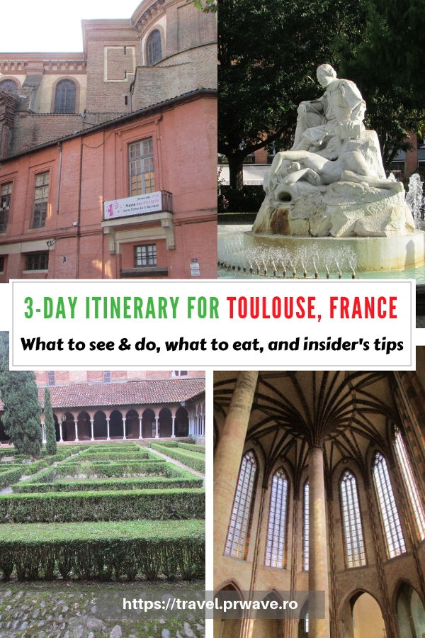Planning to visit Toulouse? Use this Toulouse travel itinerary and see what you can do if you have three days in Toulouse France. The itinerary includes the best places to eat as well as best things to do in Toulouse. Save this pin to your boards #toulouse #toulouseguide #toulousefrance #toulouseitinerary