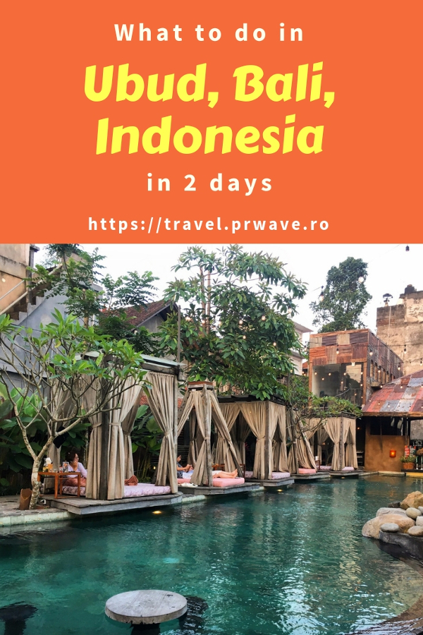 Wondering what to do in Ubud in 2 days? Here's how to spend 2 days in Ubud, Bali -  this itinerary for Ubud includes the best attractions in Ubud, where to to eat in Ubud, and more. Save this pin to your boards #ubuditinerary #ubudguide #baliindonesia #balitravel #bali #baliholiday #balinese #ubud