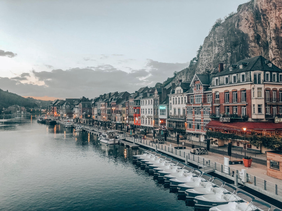 Dinant, Belgium - tosomeplacenew. Discover the best romantic trip ideas in Europe from this article. #romanticeurope #europe #valentinesday #love #citybreakseurope #romanticdestinations