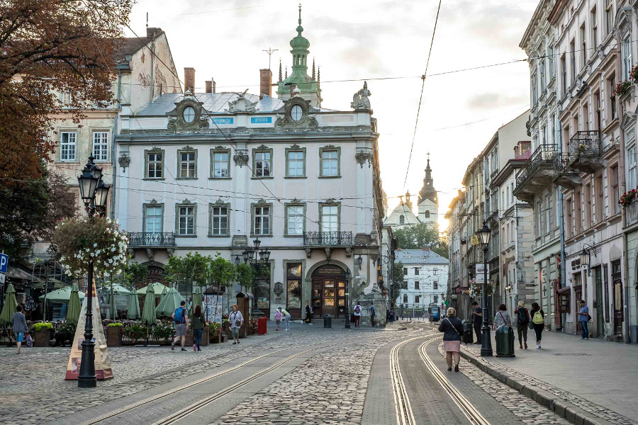 Lviv, Ukraine is a romantic European getaway idea. Discover the best places to spend Valentine's Day in Europe from this article. #romanticeurope #europe #valentinesday #love #citybreakseurope #romanticdestinations