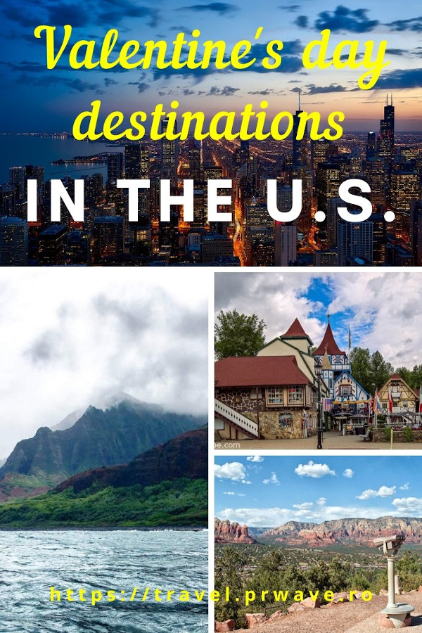 Valentine's Day destinations in the U.S. Discover the most romantic getaways in the United States from this article. 15 USA romantic breaks are included, both popular Valentine's Day destinations as well as lesser known Valentine's Day travel destinations in the U.S. to help you plan the most romantic USA trip! #valentinesday #valentines #usa #getaways #valentinesusa #love #romantic #travel