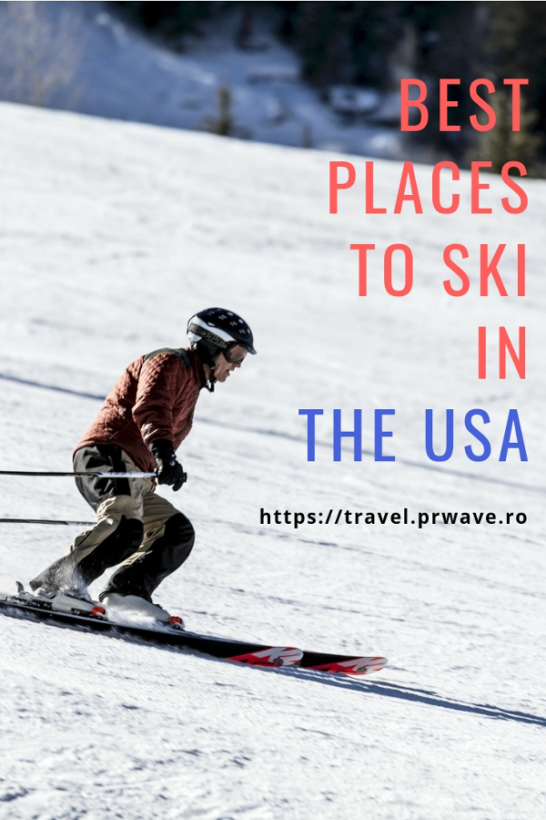The Best Places to Ski in the USA. It includes the top places to ski in Colorado, Jackson Hole, and more. These are best ski towns in the US. #usa #usaski #colorado #jacksonhole #aspen #utah
