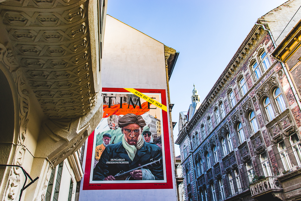 Man of the Year - Street art in Budapest