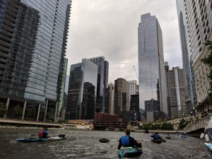 Kayaking on the Chicago River. 15 Cool Chicago activities you simply have to try!