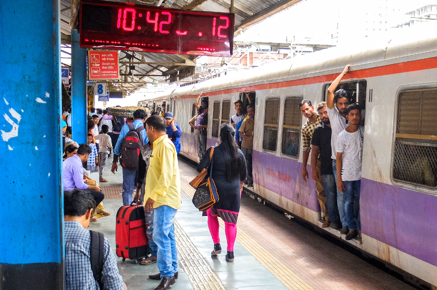 Local train in Mumbai. 8 Practical tips for first-time travelers to India