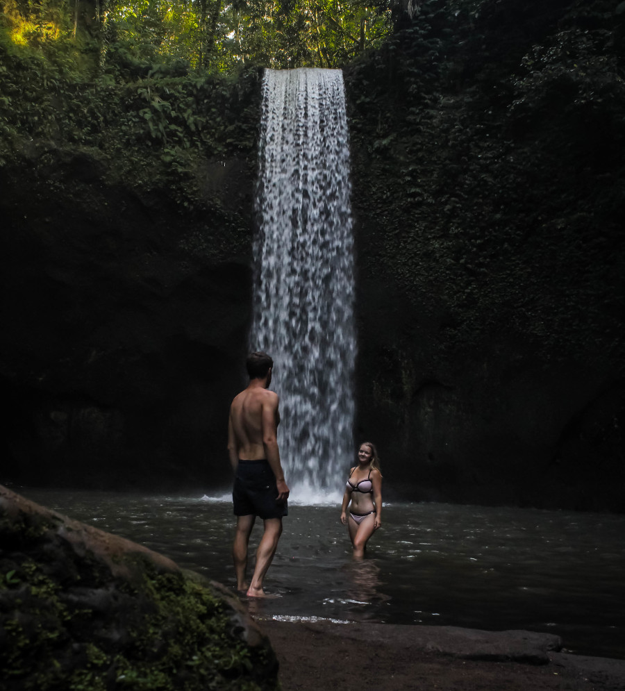 Tibumanan waterfall near Ubud, Bali. The best Bali activities and useful tips for Bali for your first trip here