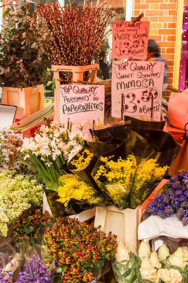 Colombia Road Flower Market. Here are the best unique things to do in London, UK