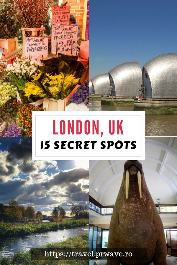 15 secret spots in London, UK. The best unique things to do in London, England #london #uk #england #europe #travel