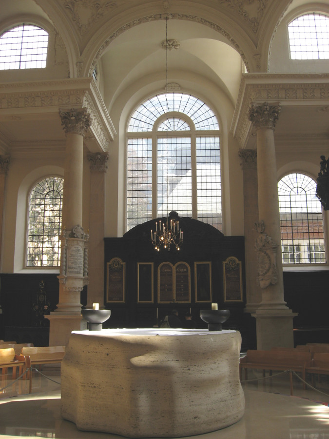 St Stephen Walbrook. What to see in London - unique attractions in London, UK
