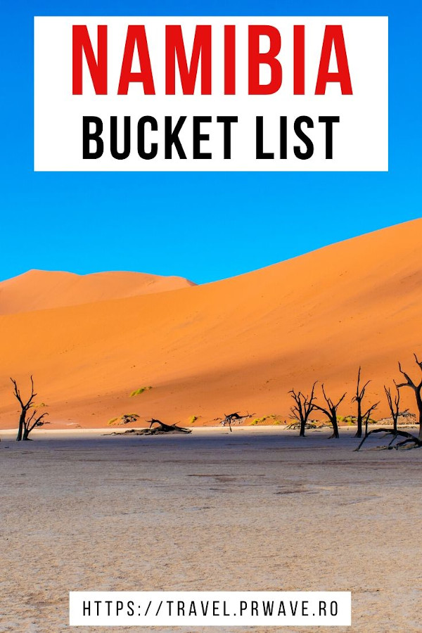 Namibia bucket list. Here are the best things to do in Namibia and the best places to visit in Namibia. Plan an unforgettable trip to Namibia with the help of this article. Insider tips for visiting Namibia are included! #namibia #africa #bucketlist