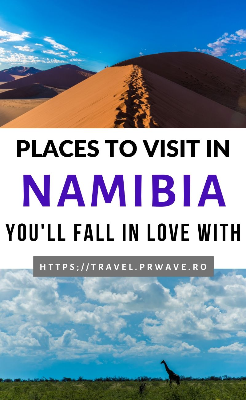 Places to visit in Namibia you'll simply fall in love with! Planning a trip to Namibia and want to know the best things to do in Namibia? This article has everything you need to know! Plan you Namibia itinerary now and include as many things to see in Namibia as possible on your trip! #namibia #africa #bucketlist