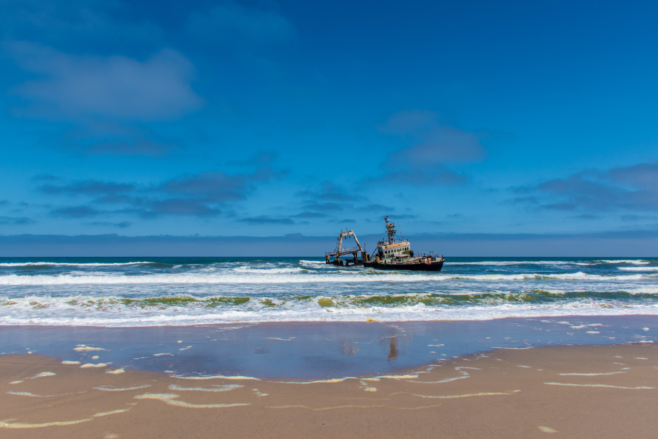 Shipwreck on the Skeleton Coast, Namibia is one of the best places to visit in Namibia. Read this article to discover more things to do in Namibia - including unique ones!