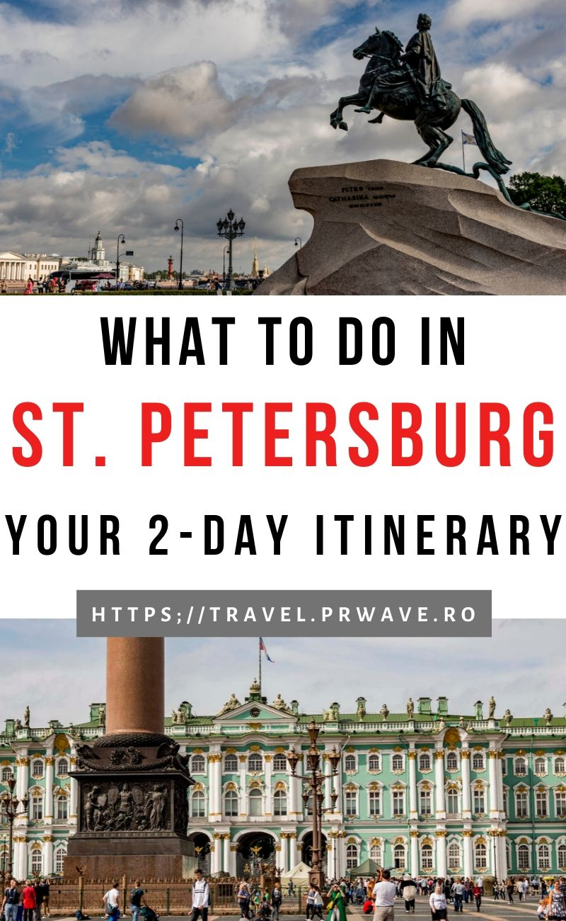 What to do in St. Petersburg in 2 days. Discover how to spend 2 days in St. Petersburg Russia - and how to see all the landmarks, famous churches, and more. Use this Saint Petersburg 2-day itinerary when planning your trip to Saint Petersburg so that you have the best time visiting this city. #stpetersburg #russia #travelitinerary #sanktpetersburg #travelguide #saintpetersburg