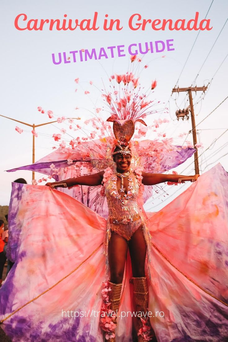 Carnival in Grenada - the ultimate guide for Grenada Carnival! If you plan a trip to Grenada in August, then you should read this guide to Carnival in Grenada to make the most of your visit! All you need to know about attending Grenada Carnival is included! #grenada #grenadacarnival #grenadafestival #spicemas #jouvertmorning #prettymas #mondaynightmas #grenadatravel #traveltips #travelmomentsintime