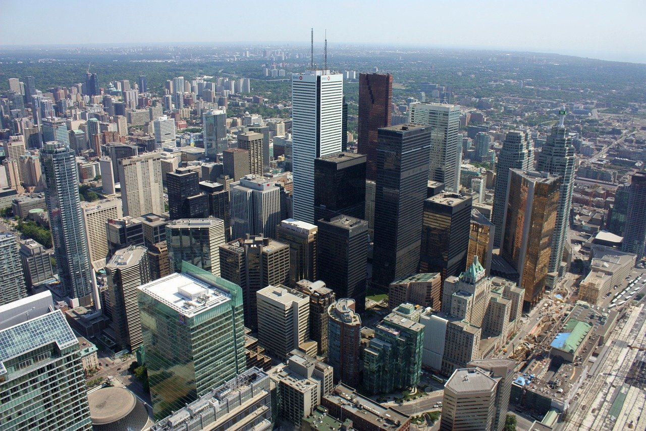 Enjoying the views across Toronto from the top of the CN Tower is one of the best things to do in Toronto, Canada