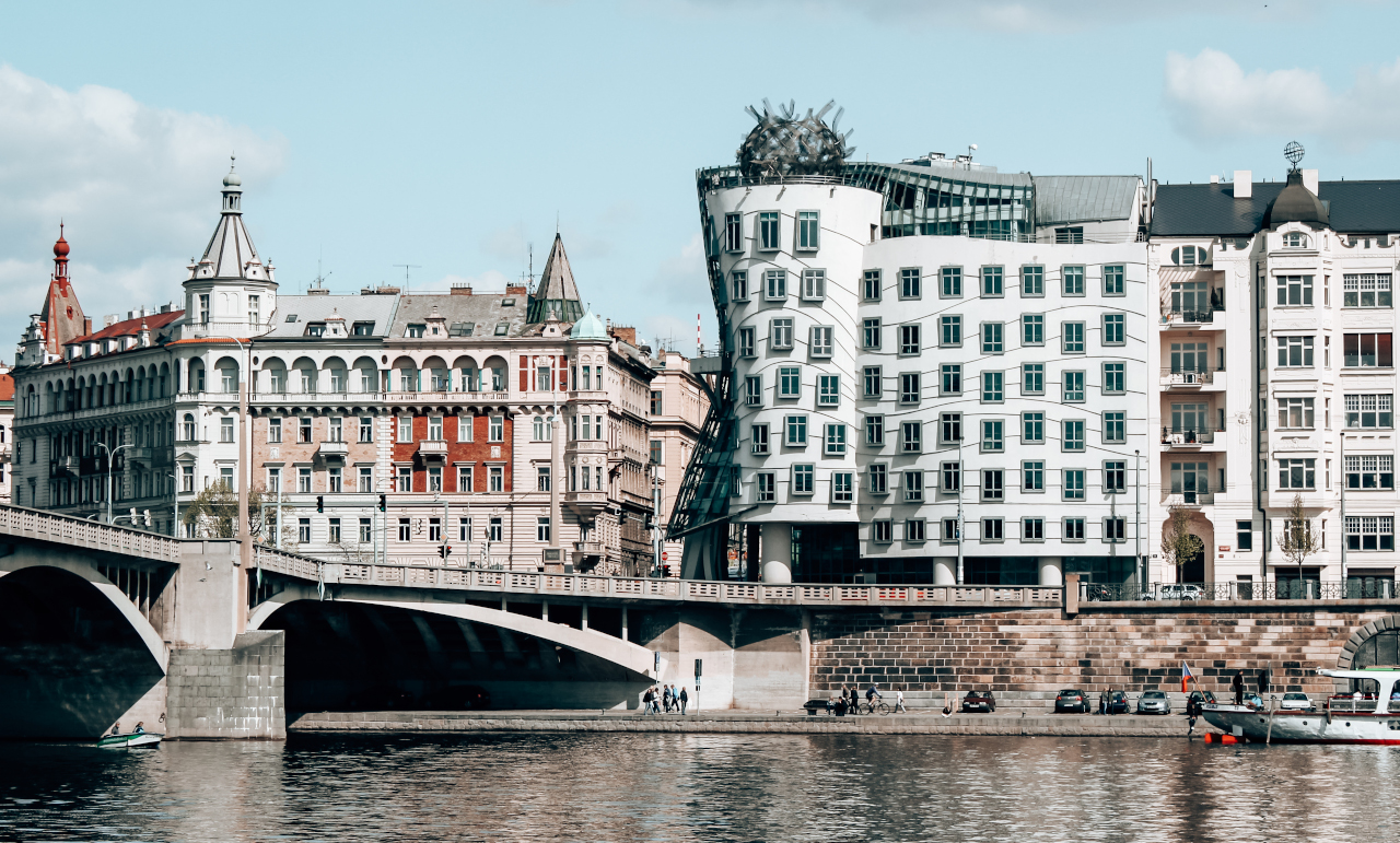 The Dancing House is one of the most famous Prague buildings and one of the Prague landmarks.