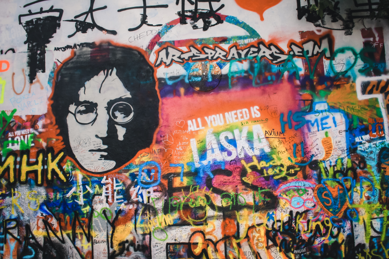 John Lennon Wall is one of the top places to visit in Prague. Make sure you include it on your Prague itinerary