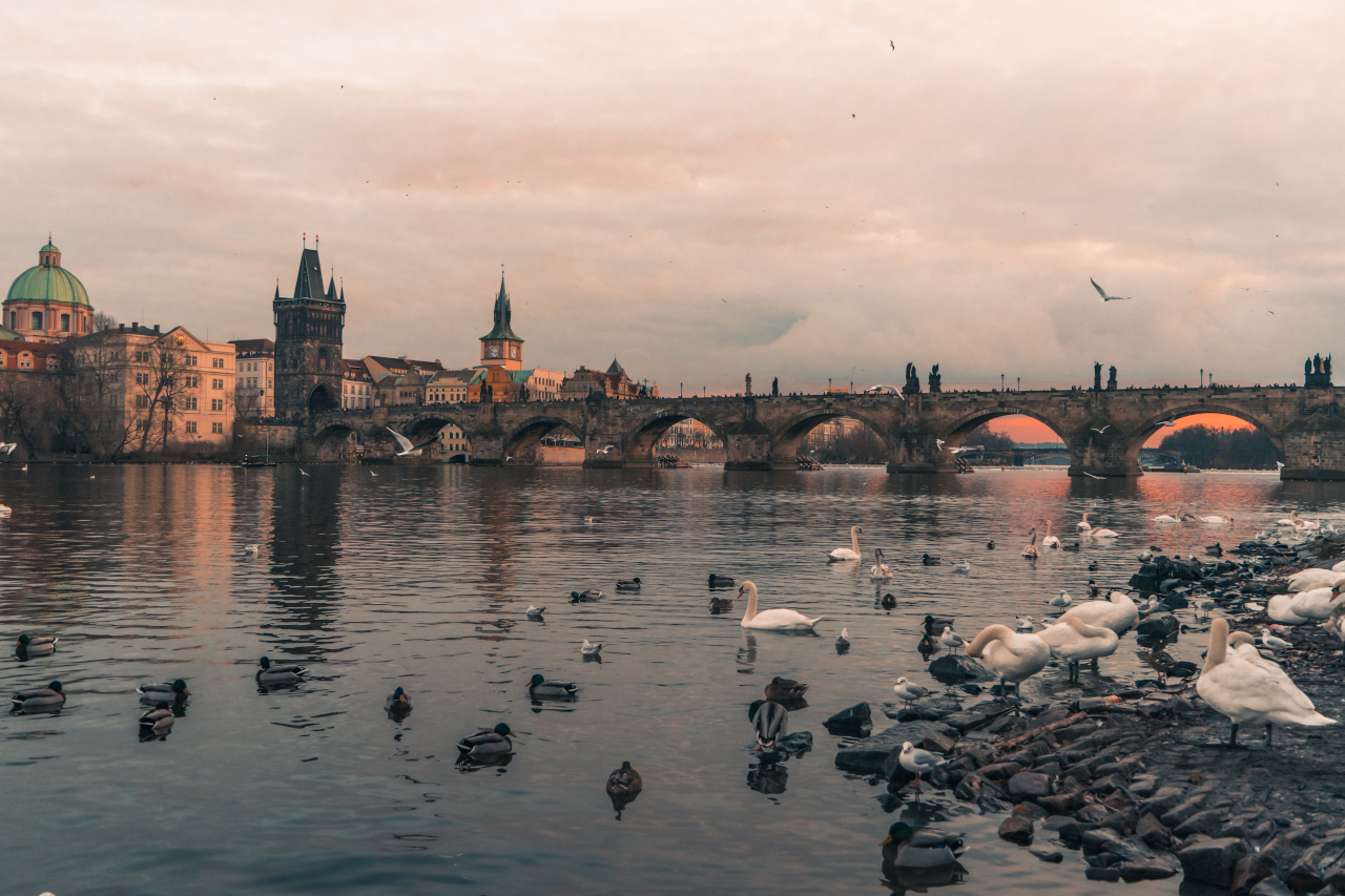 Vltava River is one of the best things to see when you visit Prague, Czech Republic