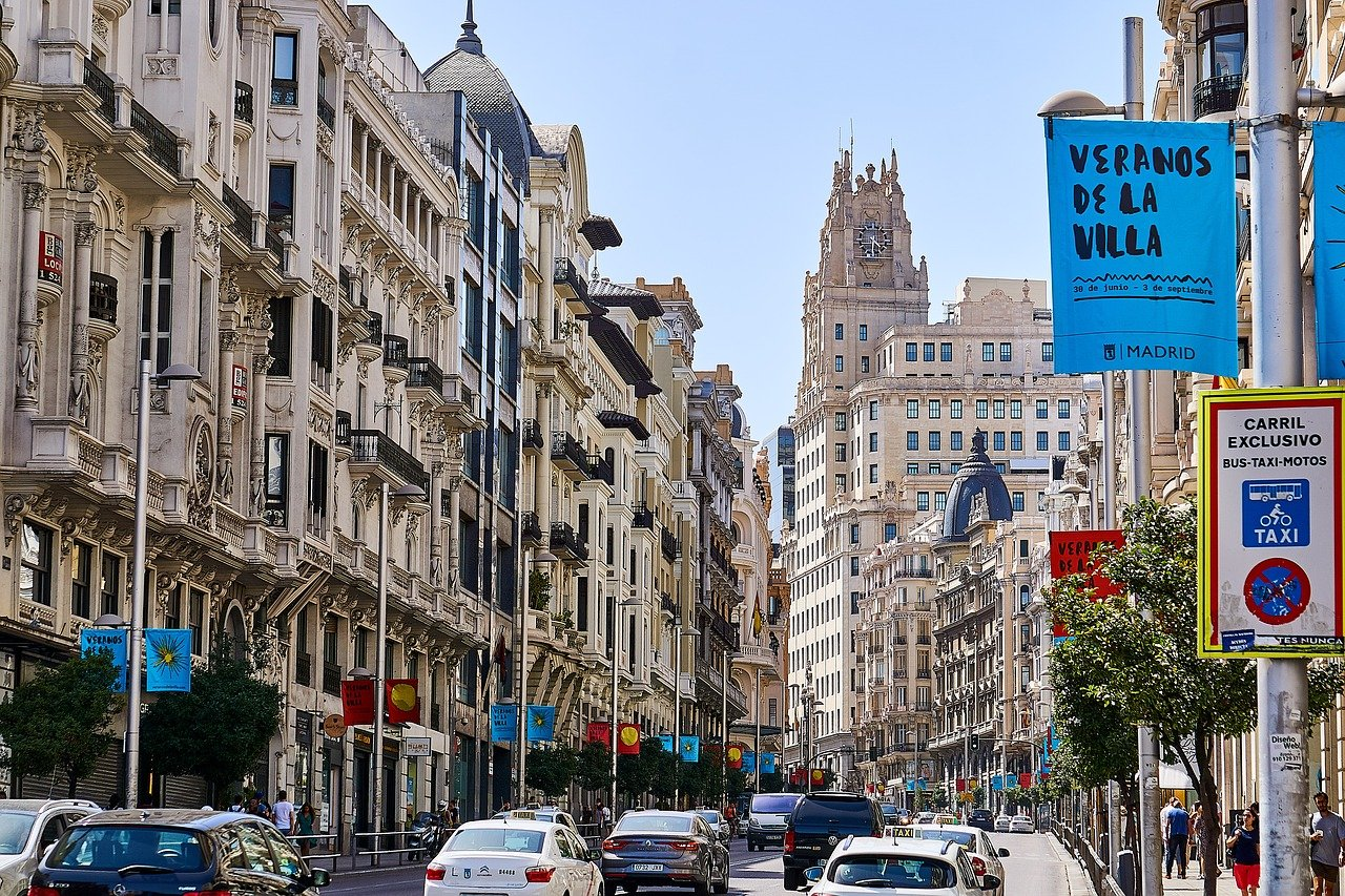 The Gran Via is one of the must-see free attractions in Madrid